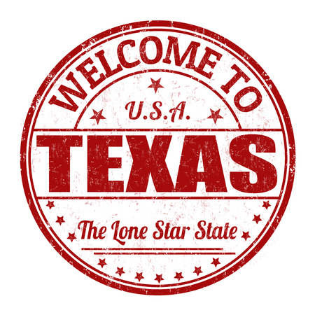visit us: Welcome to Texas grunge rubber stamp on white background, vector illustration Illustration