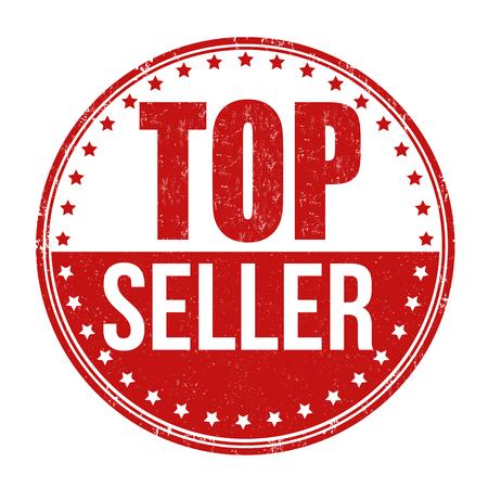 Top seller grunge rubber stamp on white background, vector illustration