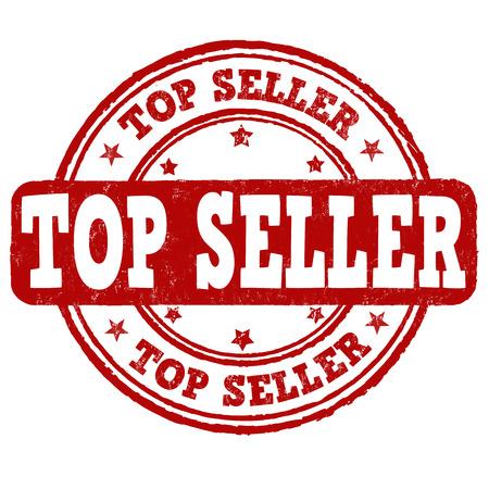 seller: Top seller grunge rubber stamp on white background, vector illustration
