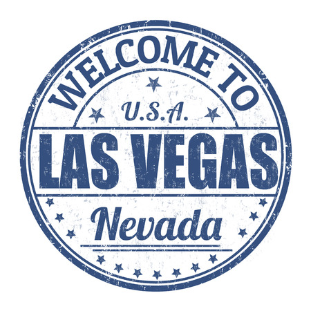 vegas sign: Welcome to Las Vegas grunge rubber stamp on white background, vector illustration Illustration