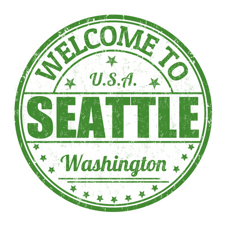 seattle: Welcome to Seattle grunge rubber stamp on white background, vector illustration Illustration