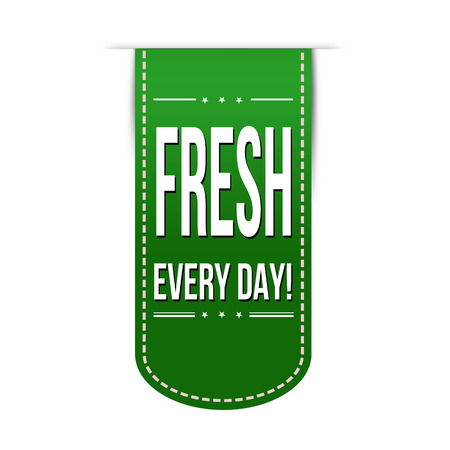 recommendations: Fresh every day banner design over a white background, vector illustration