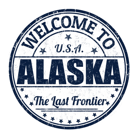 Welcome to Alaska grunge rubber stamp on white background, vector illustration Vector
