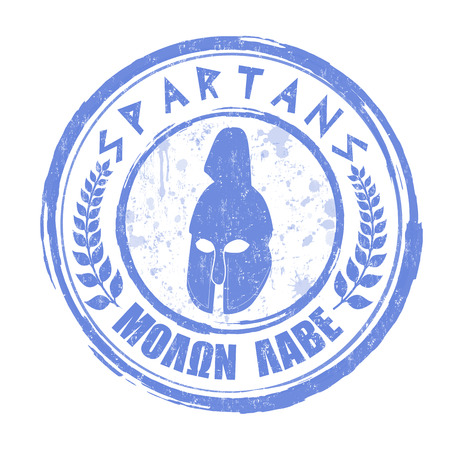 Spartans grunge rubber stamp on white  Vector