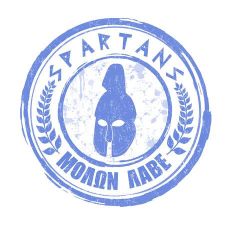 Spartans grunge rubber stamp on white  Illustration