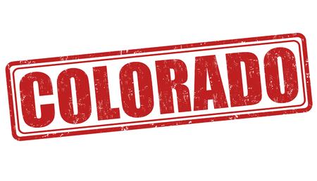 Colorado grunge rubber stamp on white background, vector illustration Vector