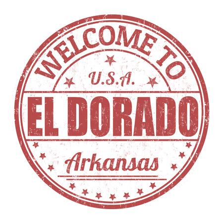dorado: Welcome to El Dorado grunge rubber stamp on white background, vector illustration Illustration