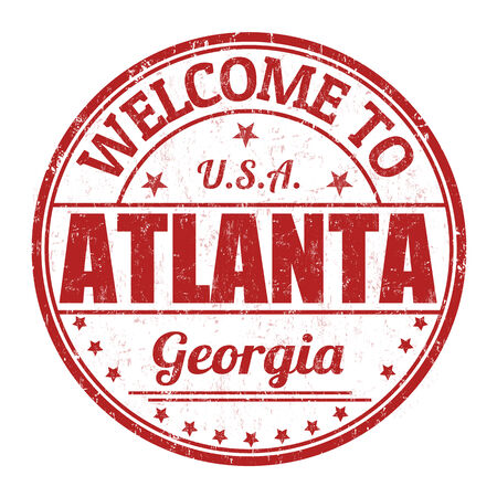 Welcome to Atlanta grunge rubber stamp on white background, vector illustration Vector