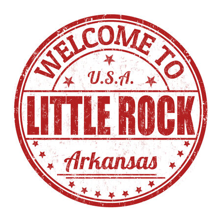 little rock: Welcome to Little Rock grunge rubber stamp on white background, vector illustration