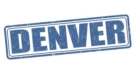 denver: Denver grunge rubber stamp on white background, vector illustration Illustration