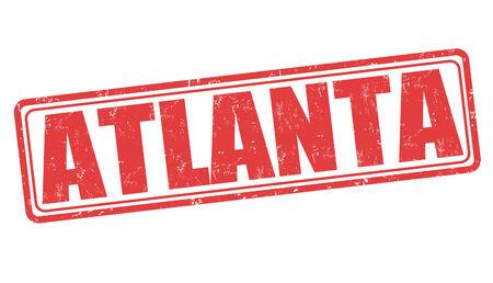 atlanta tourism: Atlanta grunge rubber stamp on white background, vector illustration