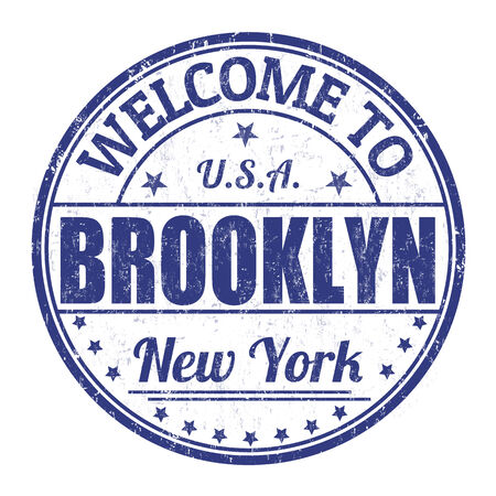 brooklyn: Welcome to Brooklyn grunge rubber stamp on white background, vector illustration Illustration