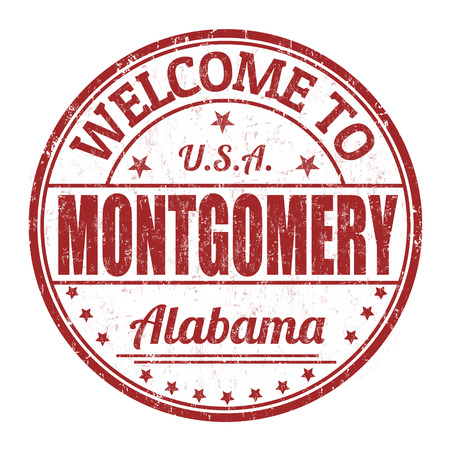 montgomery: Welcome to Montgomery grunge rubber stamp on white background, vector illustration
