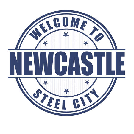 Welcome to Newcastle, Steel city grunge rubber stamp on white, vector illustration Vector