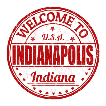 Welcome to Indianapolis grunge rubber stamp on white background Illustration