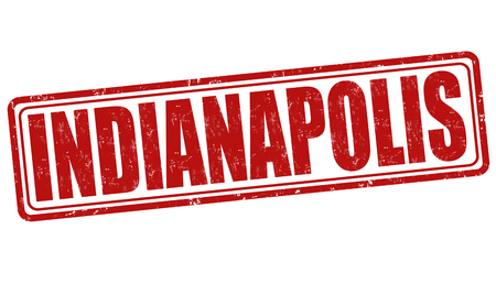 indianapolis: Indianapolis grunge rubber stamp on white background