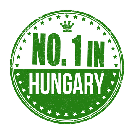 Number one in Hungary grunge rubber stamp on white background Vector