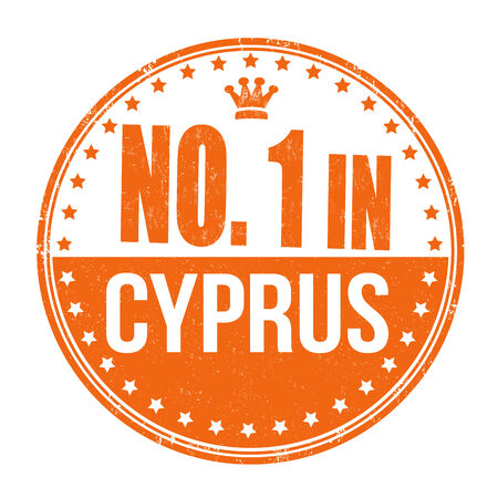 Number one in Cyprus grunge rubber stamp on white background Vector
