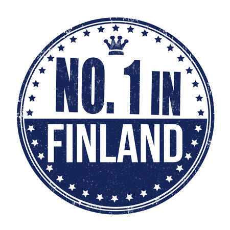 made in finland: Number one in Finland grunge rubber stamp on white background