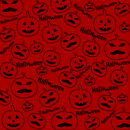 pattern monster: Seamless Halloween background with the pumpkins