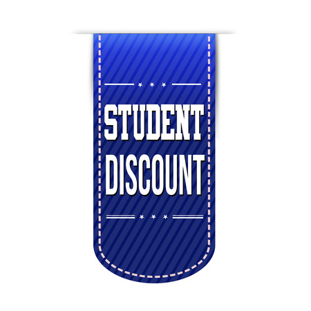 recommendations: Student discount banner design over a white background