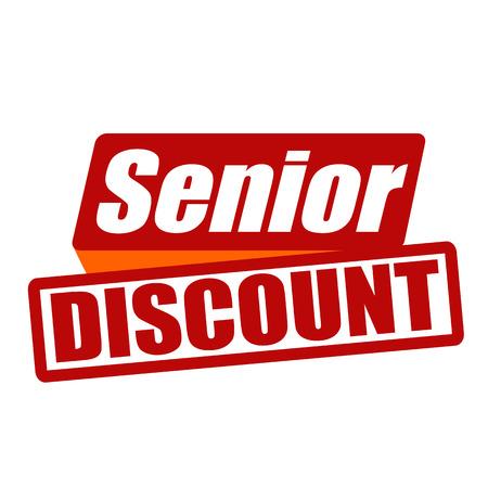 paid: Senior discount grunge rubber stamp on white background Illustration
