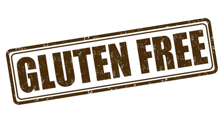 gluten: Gluten free grunge rubber stamp on white background, vector illustration