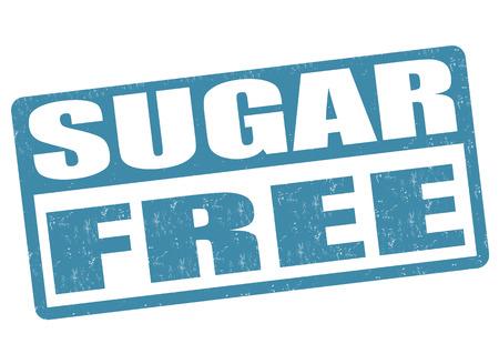 Sugar free grunge rubber stamp on white background Vector