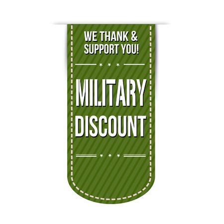 estrellas  de militares: Diseño de banners de descuento militar sobre un fondo blanco
