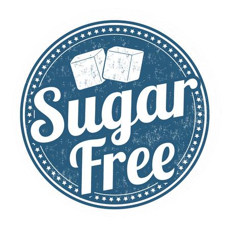 Suikervrije grunge rubberen stempel op een witte achtergrond