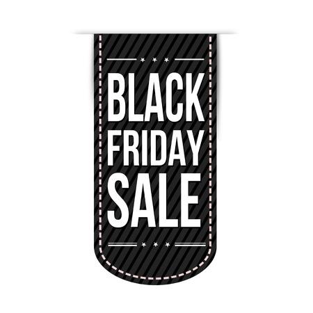Black friday sale banner design over a white background, illustration Vector