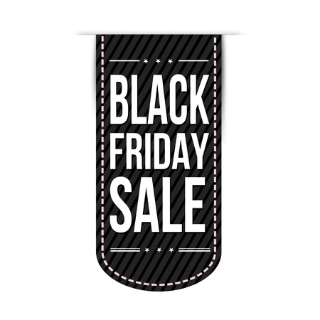 black friday: Black friday sale banner design over a white background, illustration
