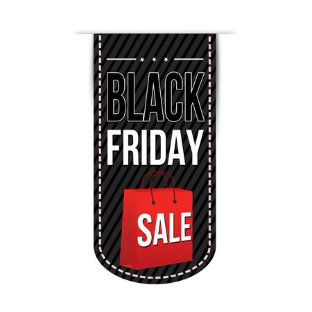 Black friday sale banner design over a white background, illustration Vector