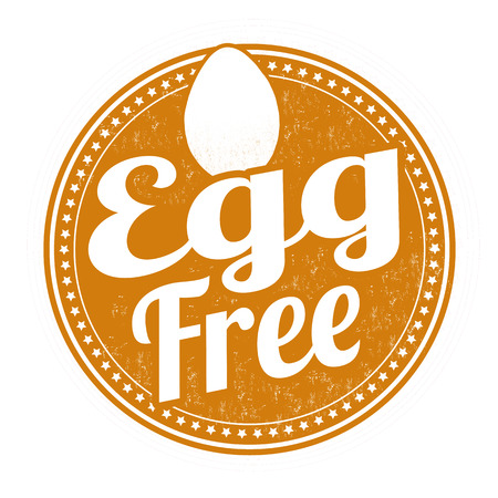 labelling: Egg free grunge rubber stamp on white background,