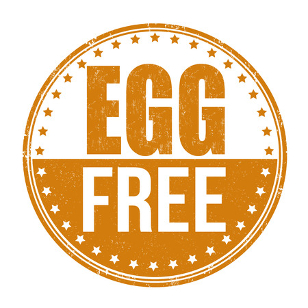 no icon: Egg free grunge rubber stamp on white background,