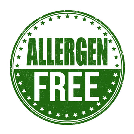 allergen: Allergen free grunge rubber stamp on white background, illustration