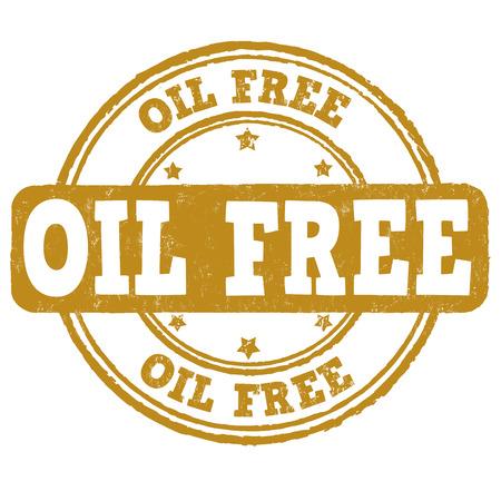 no icon: Oil free grunge rubber stamp on white background, illustration Illustration