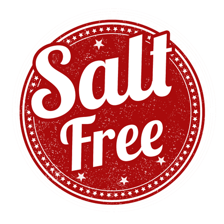 salt free: Salt free grunge rubber stamp on white background, illustration