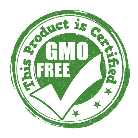 modified: Gmo free grunge rubber stamp on white background, illustration