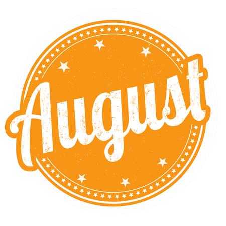 Agosto grunge sello de goma en el fondo blanco, ilustración Foto de archivo - 31213150