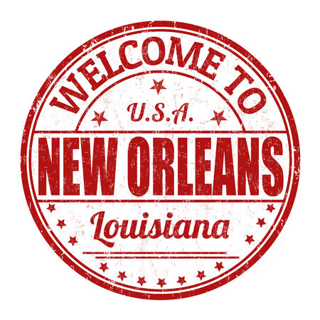 new orleans: Welcome to New Orleans grunge rubber stamp on white background, illustration