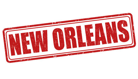 orleans symbol: New Orleans grunge rubber stamp on white background, illustration
