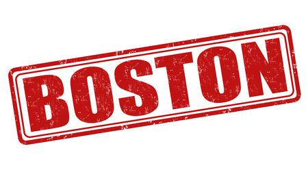 boston tea party: Boston grunge rubber stamp on white