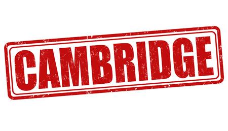 cambridgeshire: Cambridge grunge rubber stamp on white background, vector illustration