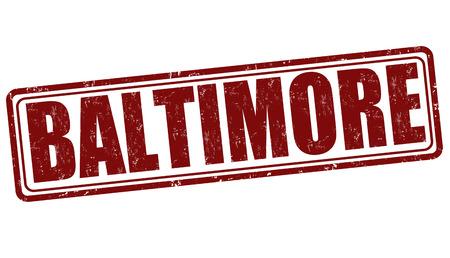baltimore: Baltimore grunge rubber stamp on white background, vector illustration Illustration