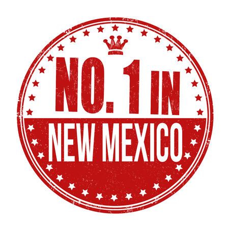 usa stamp: Number one in New Mexico grunge rubber stamp on white background, vector illustration