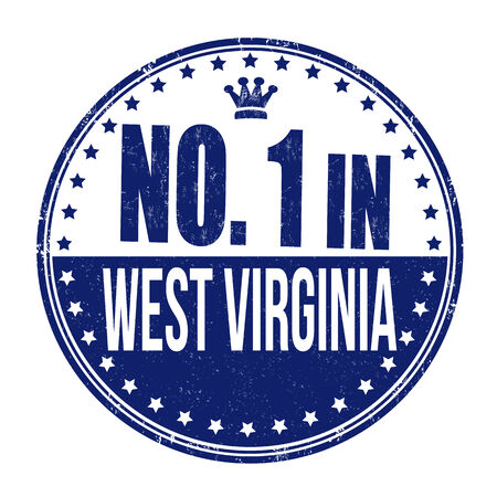 Number one in West Virginia grunge rubber stamp on white background, vector illustration Vector