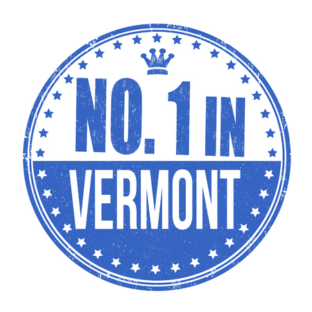 Number one in Vermont grunge rubber stamp on white background, vector illustration Vector