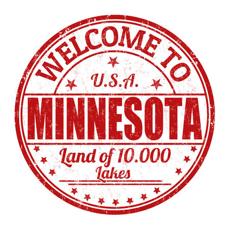 Welcome to Minnesota grunge rubber stamp on white background, vector illustration Vector