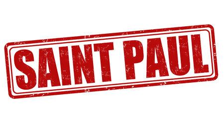 Saint Paul grunge rubber stamp on white background, vector illustration Vector